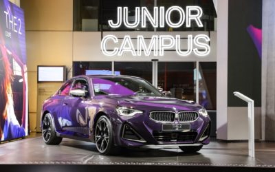 The 2022 BMW M240i Coupe in Thundernight Metallic